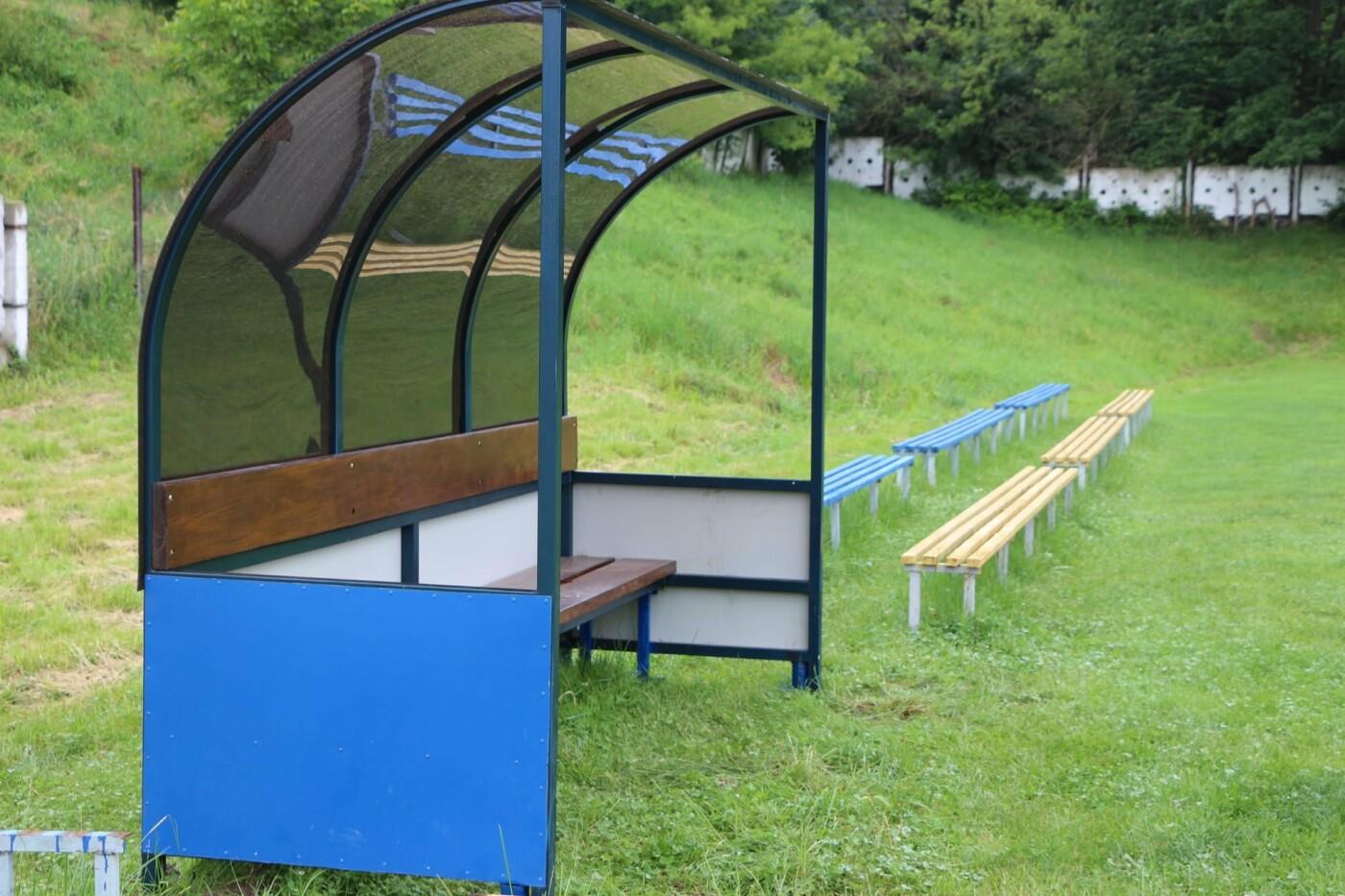 Трускавецький стадіон обладнали лавками для запасних гравців, фото-3