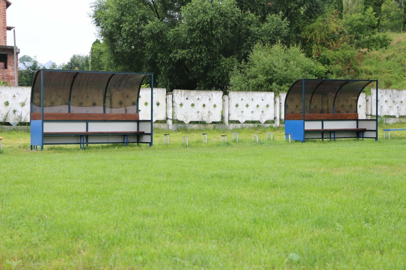 Трускавецький стадіон обладнали лавками для запасних гравців, фото-5