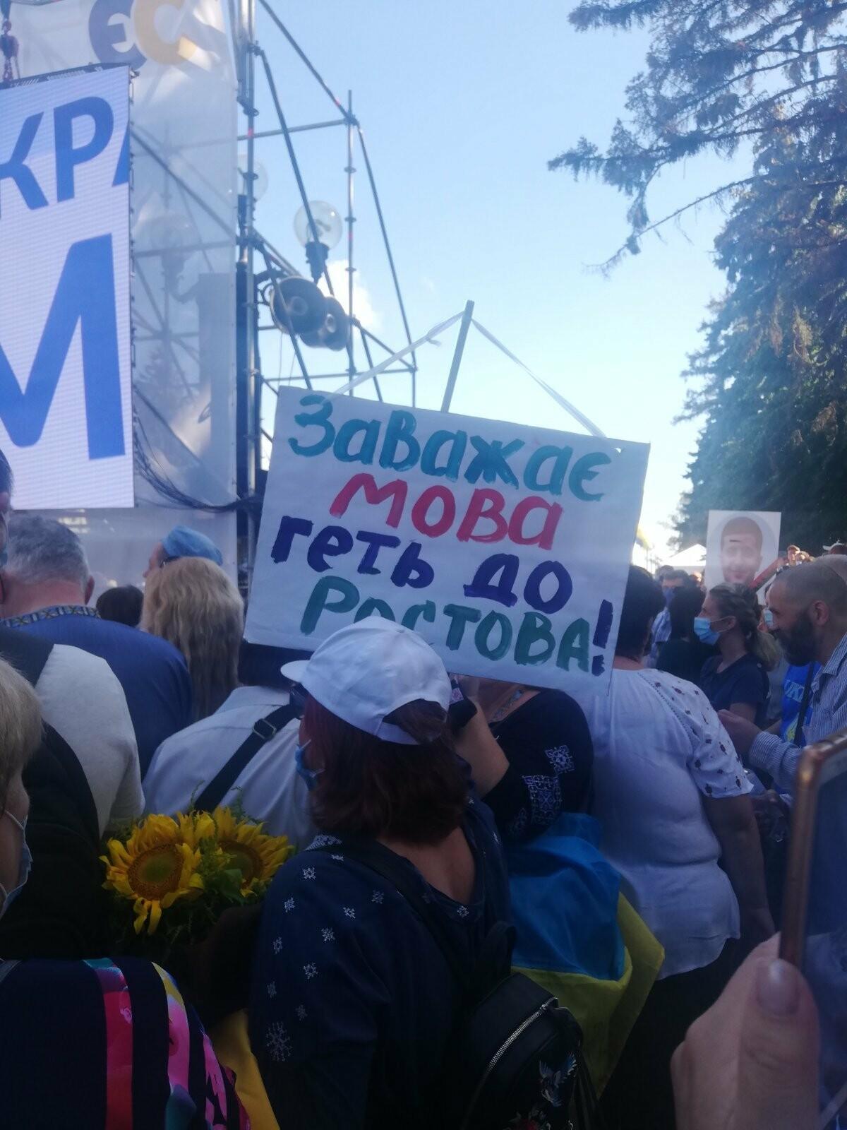 Мова має значення! - українці протестують під ВР, фото-2