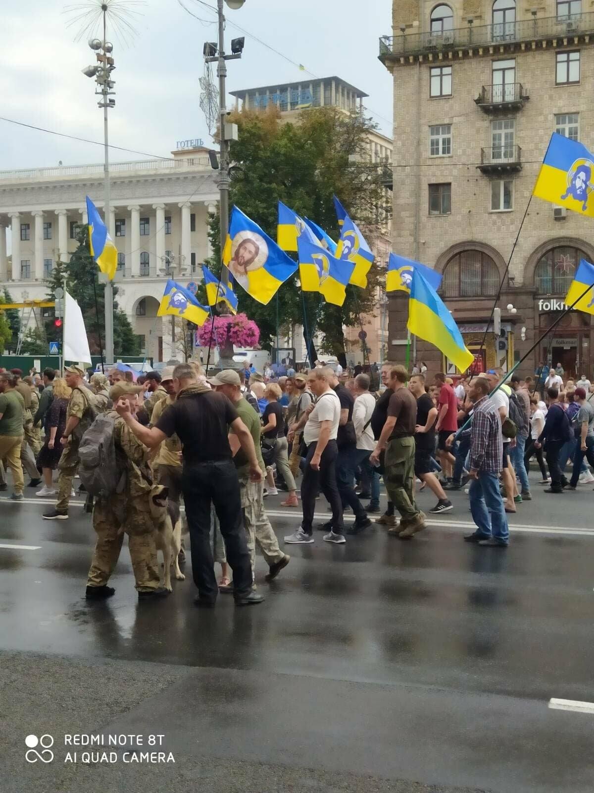 В Києві пройшов Марш захисників України (ФОТО, ВІДЕО), фото-4