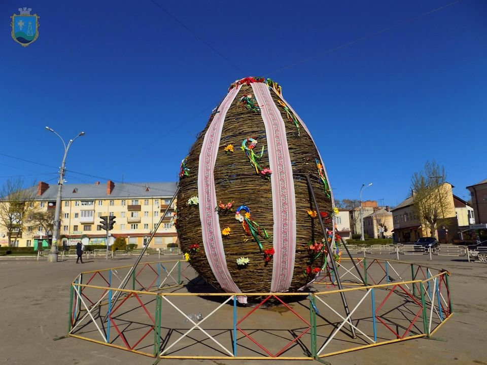 У Бориславі встановили писанку висотою понад 6 метрів, фото-2, Фото - Бориславська міська рада
