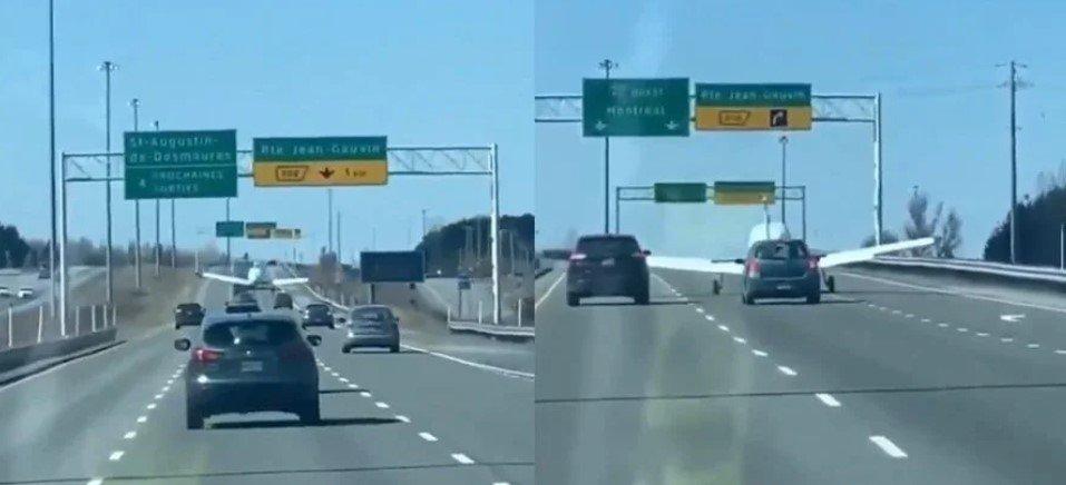 У Канаді на автодорогу приземлився літак. Відео, фото-1