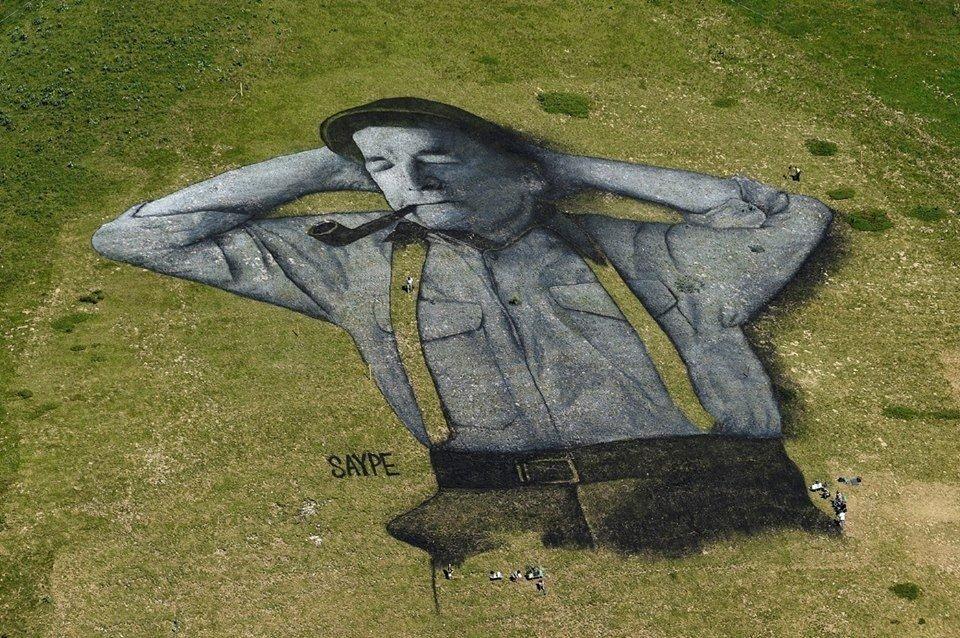 Художник малює біоматеріалом картини площею 3000 кв. м.  Фото вражають, фото-5, Гійом Легро