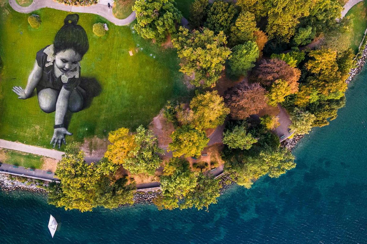 Художник малює біоматеріалом картини площею 3000 кв. м.  Фото вражають, фото-4, Гійом Легро