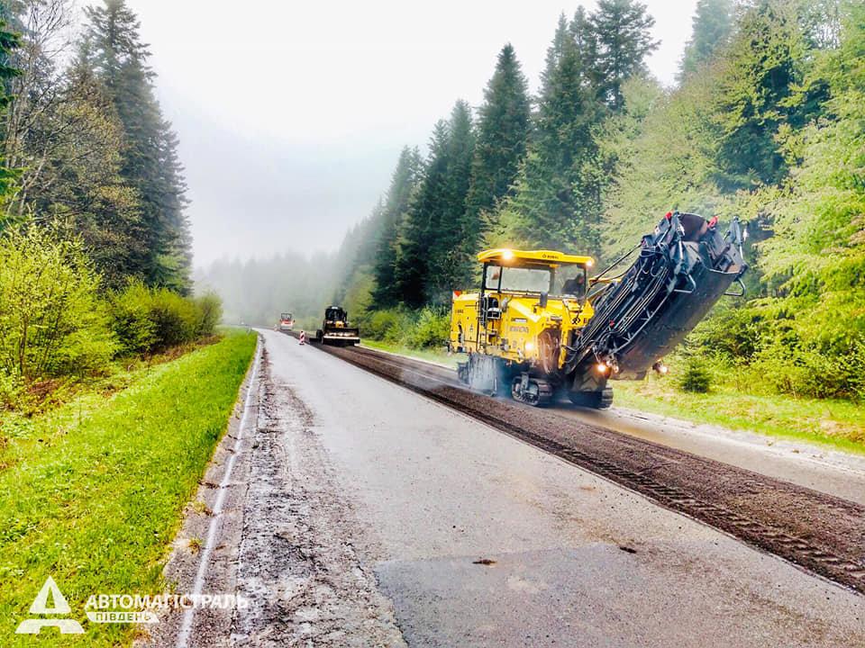 Продовжують ремонтувати дорогу до Східниці, фото-1, фото - Автомагістраль-Південь