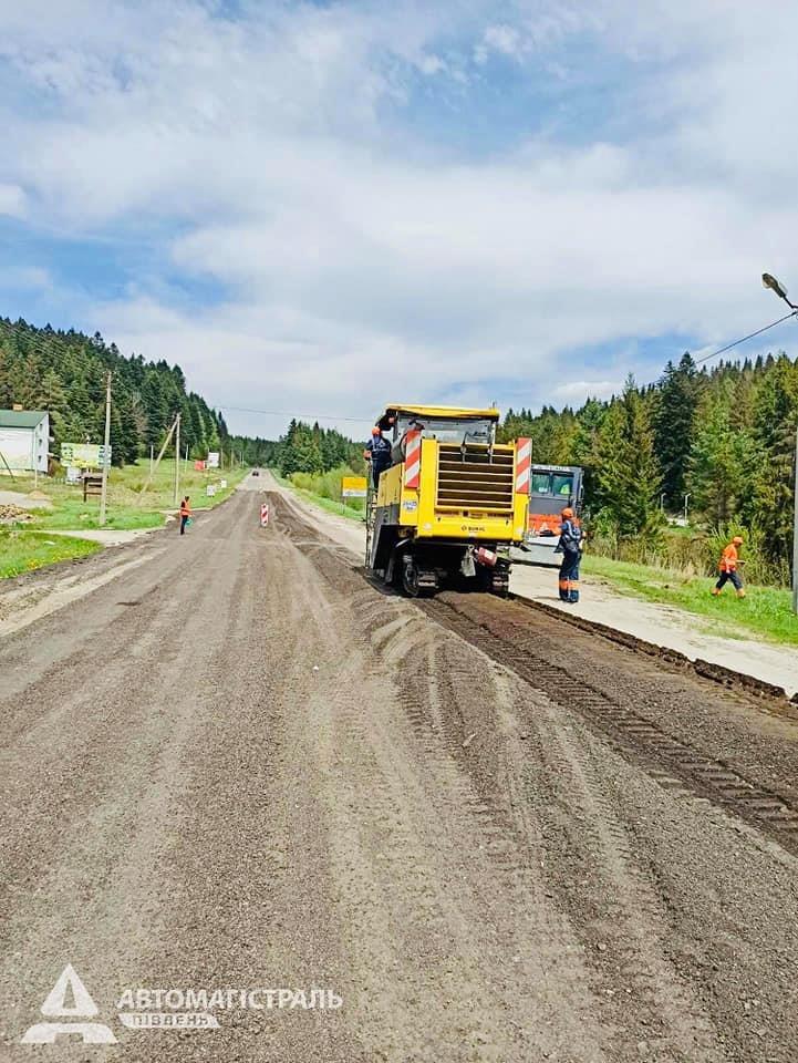 Продовжують ремонтувати дорогу до Східниці, фото-3, фото - Автомагістраль-Південь