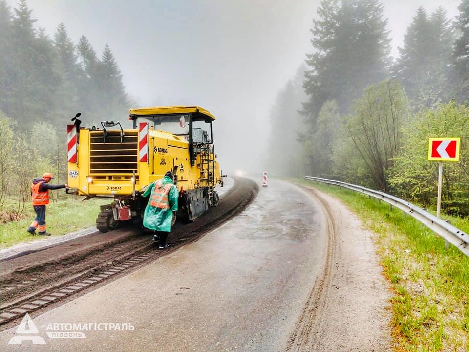 Продовжують ремонтувати дорогу до Східниці, фото-2, фото - Автомагістраль-Південь