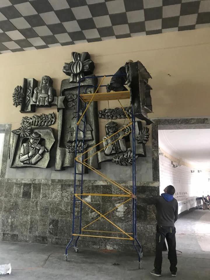 Як змінюється Трускавецький парк? Триває ремонт у бюветі та реконструкція площі. Фото, фото-5, фото - Андрій Кульчинський