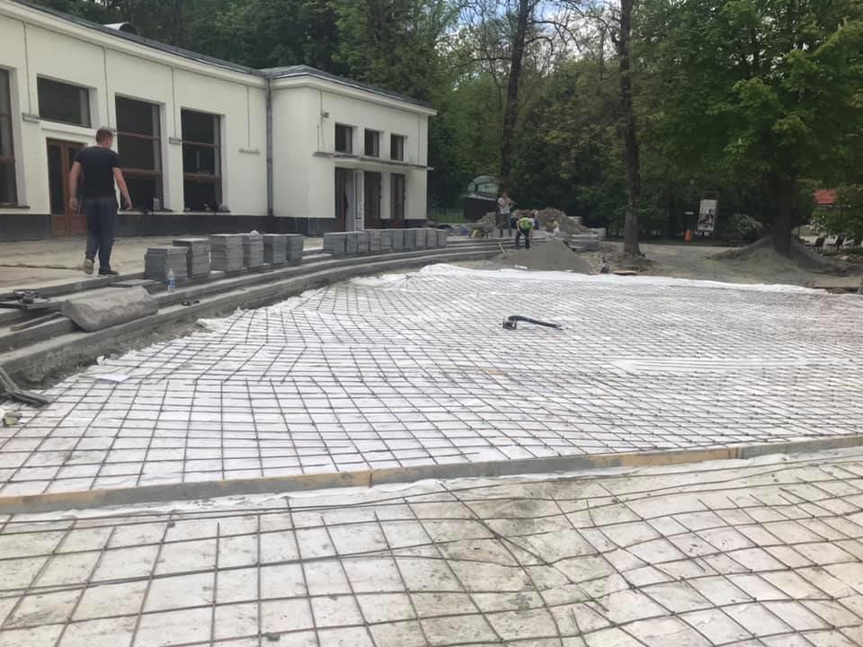 Як змінюється Трускавецький парк? Триває ремонт у бюветі та реконструкція площі. Фото, фото-2, фото - Андрій Кульчинський