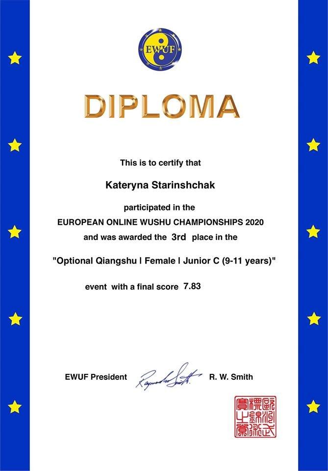 Спортсмени з Дрогобича вибороли призові місця на онлайн-Чемпіонаті Європи з ушу, фото-7, фото - Дрогобицька міськрада