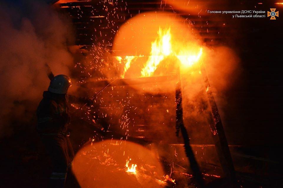 У Дрогобичі  вогонь ледь не знищив гараж та автомобіль, фото-1