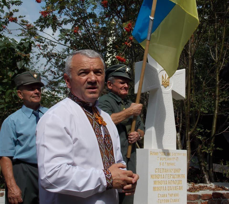 У Дрогобичі освятили пам'ятник воїнам УПА (ФОТО), фото-4, Михайло Задорожній