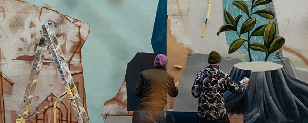 """У Дрогобичі малюють мурал """"Вуличний музей міста"""", фото-1"""